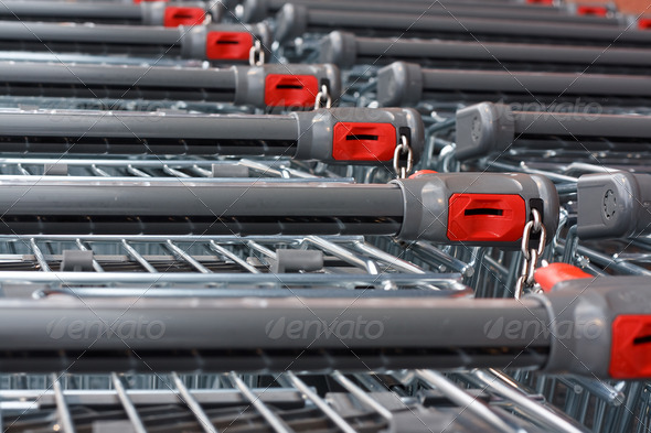PhotoDune Supermarket shopping carts 4101976