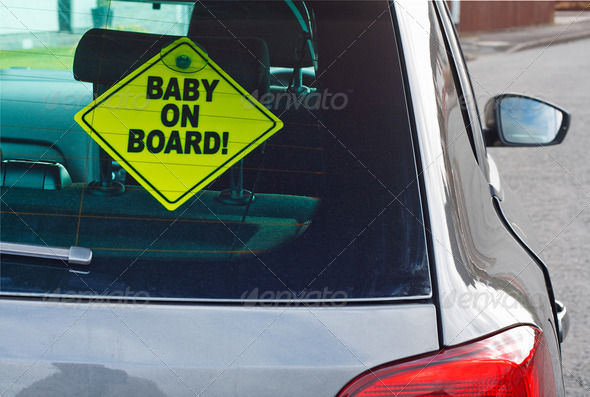 PhotoDune Baby on board warning sign 4102013