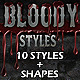 Bloody Horror Styles - GraphicRiver Item for Sale