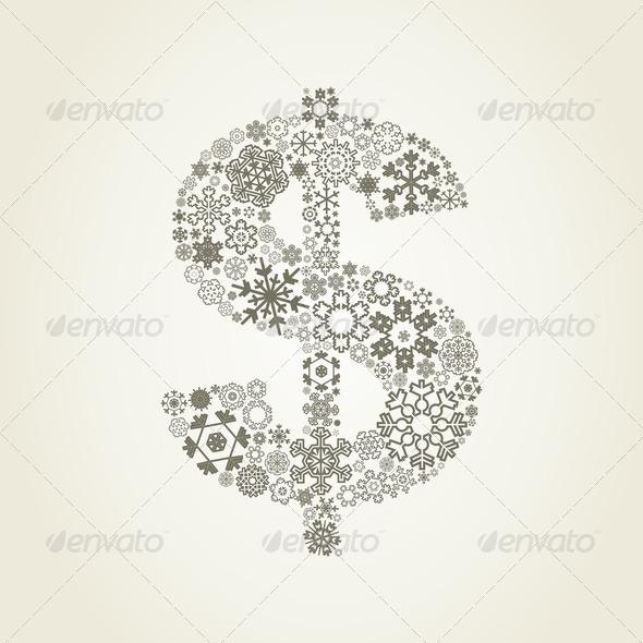 PhotoDune Snowflake dollar 4102235