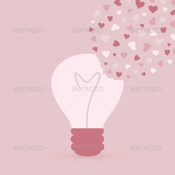 PhotoDune Love bulb 4102241