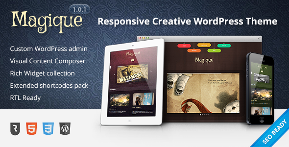 Magique wordpress theme download