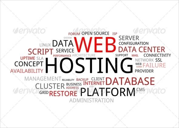 PhotoDune word cloud web hosting 4102698