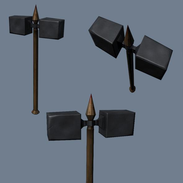 3DOcean Low Poly Game Model War Hammer 4099561