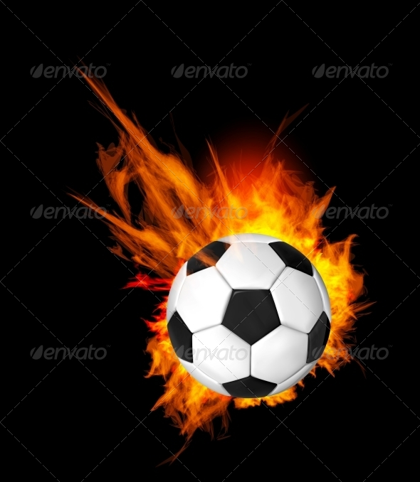 GraphicRiver Soccer Ball on Fire 4102807