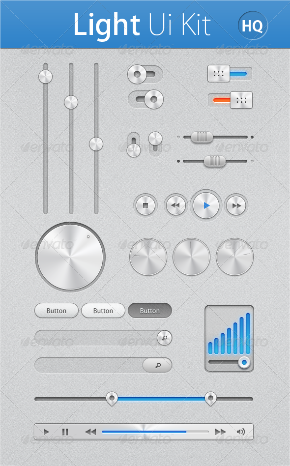 Light Ui Kit - User Interfaces Web Elements