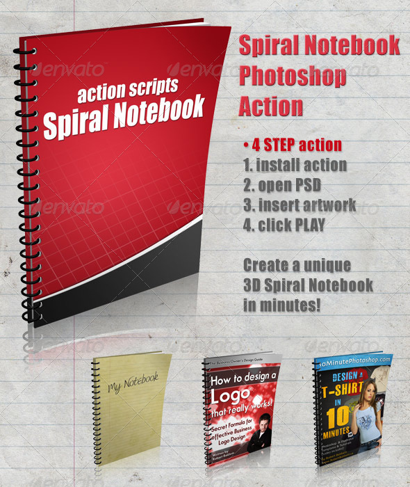 GraphicRiver 3D Spiral Notebook Action Script 4103041