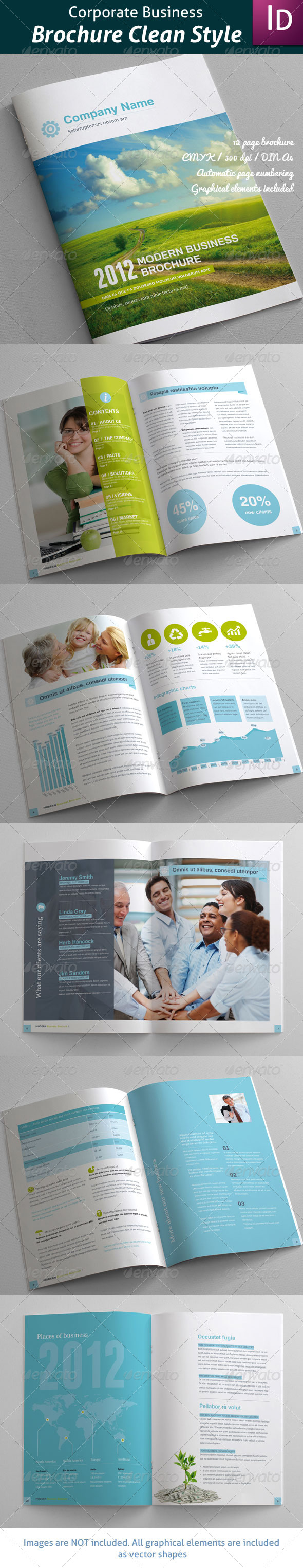 Business Brochure Clean Style - Corporate Brochures
