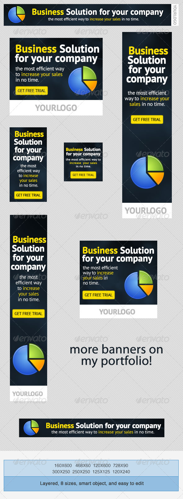 Corporate PSD Banner Ad Template 2 - Banners & Ads Web Elements