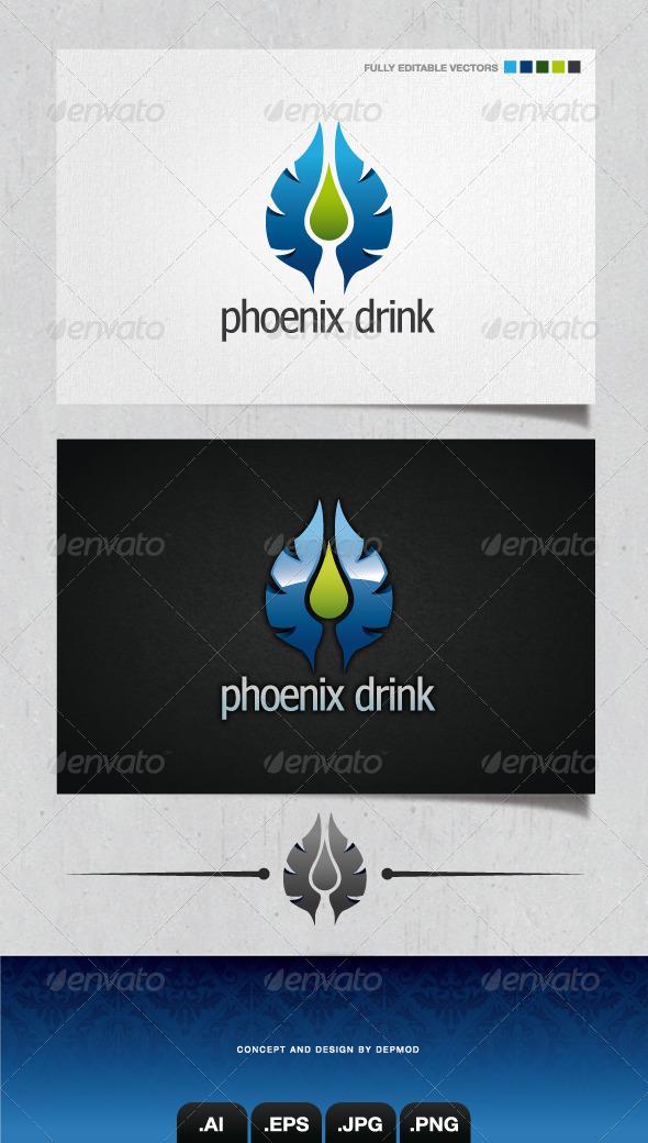 GraphicRiver Phoenix Drink Logo 4103427