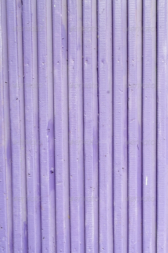Lilac old painted wooden fence