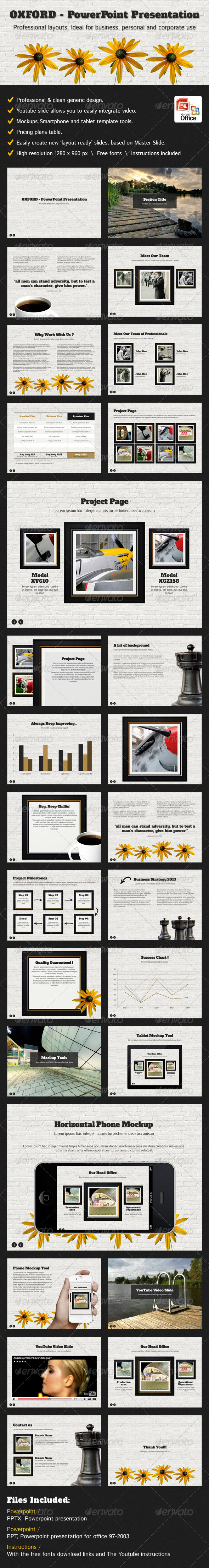 Oxford - PowerPoint Presentation For General Use - Business Powerpoint Templates