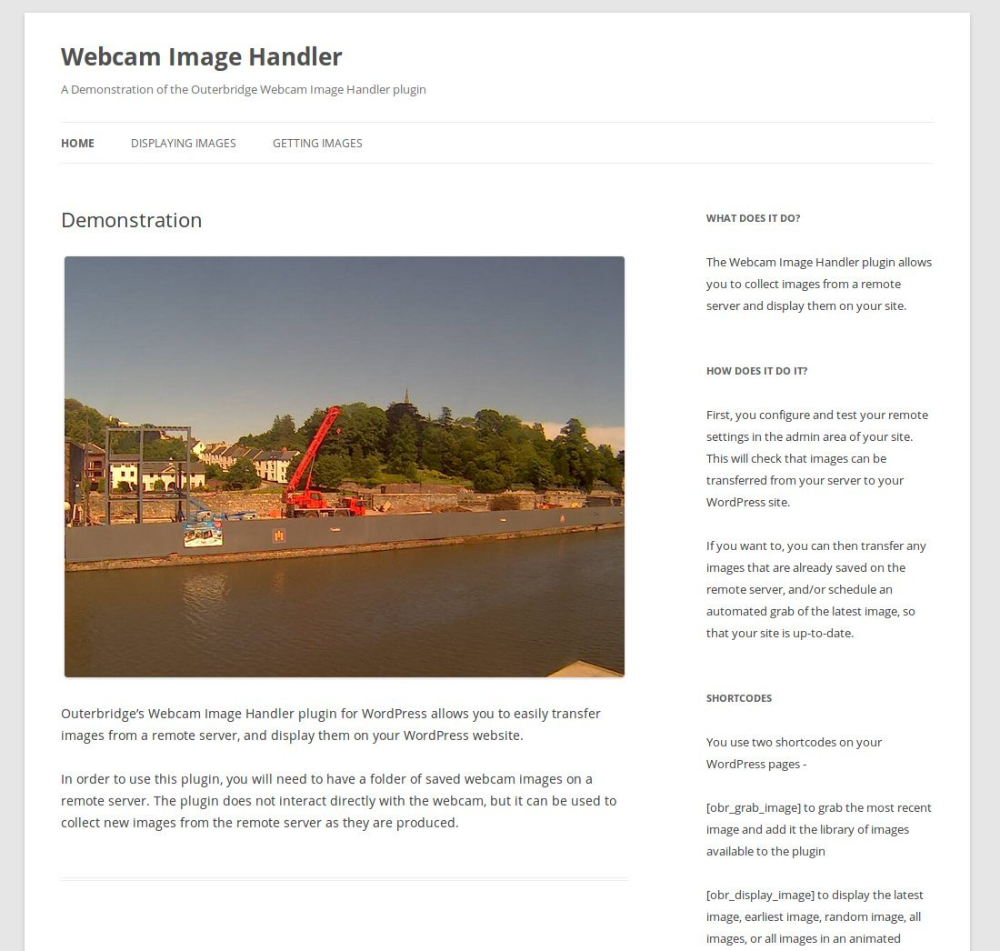 Webcam Image Handler for WordPress