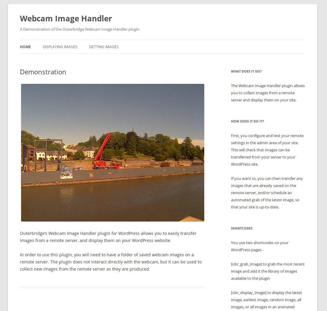 Webcam Image Handler for WordPress
