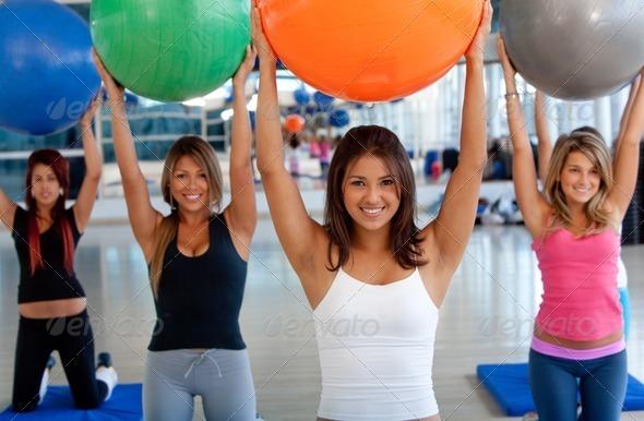PhotoDune Women at a pilates class 443820