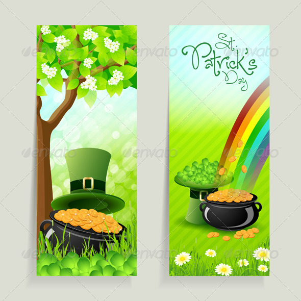 Set of St. Patricks Day Cards - Seasons/Holidays Conceptual