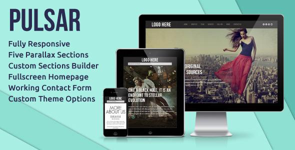 ThemeForest Pulsar Fully Responsive Parallax WordPress Theme 4105206