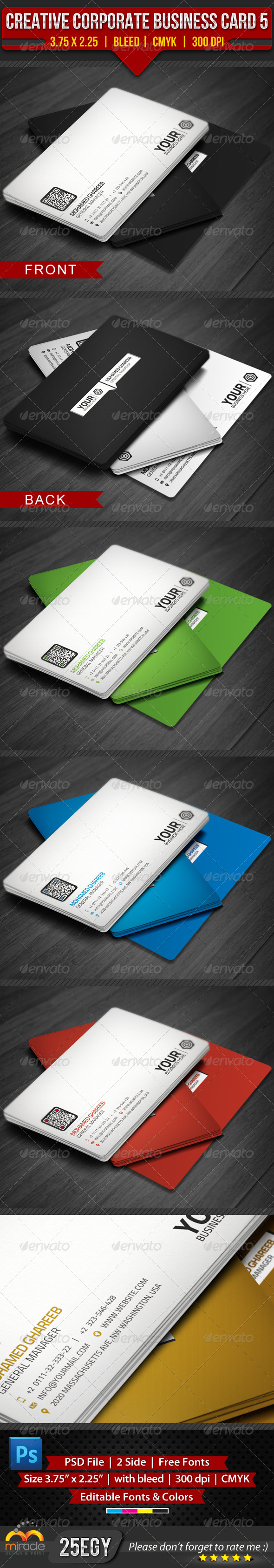 GraphicRiver Creative Corporate Business Card 5 4105464