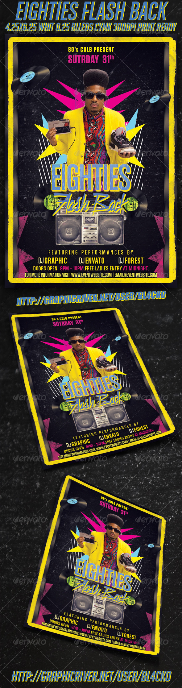 GraphicRiver Eighties Flash Back Flyer 3985628