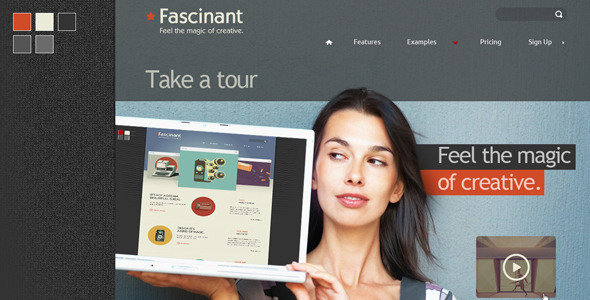 ThemeForest PSD Template Fascinant 4105949