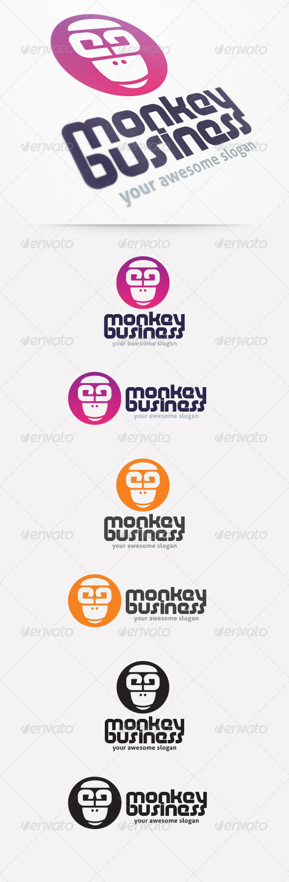 GraphicRiver Monkey Business Logo Template 2240935