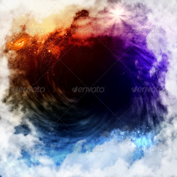 Cosmic clouds of mist - Stock Photo - Images