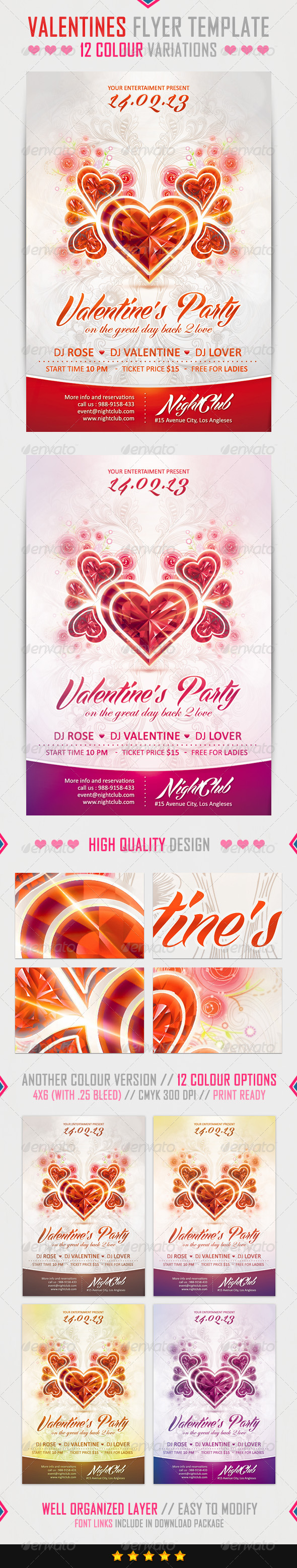 GraphicRiver Valentine s Flyer Template 3990950