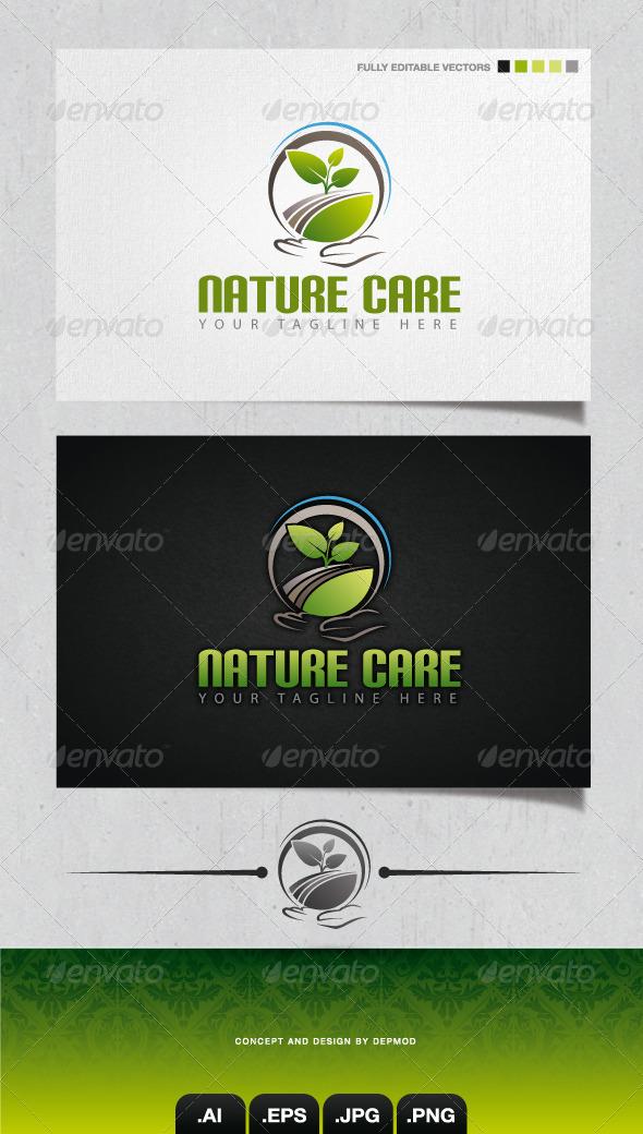 GraphicRiver Nature Care Logo 4106417