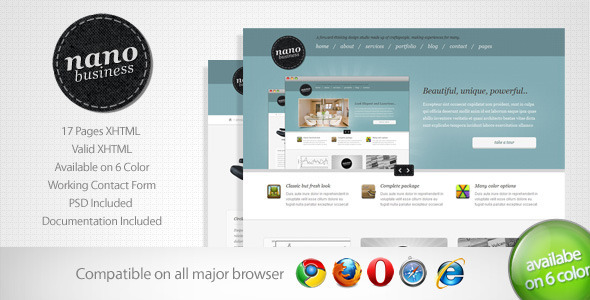 Nano - Corporate Business Template 5 - Corporate Site Templates