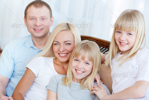 Family of four - Stock Photo - Images