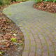 Mossy curved brick path - PhotoDune Item for Sale