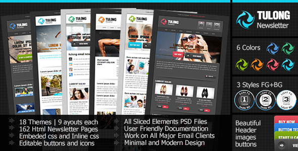 ThemeForest Tulong Newsletter Email Template 4100085
