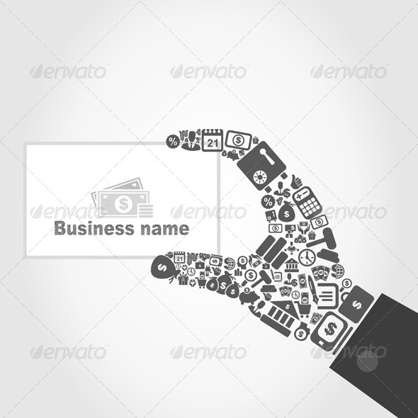 GraphicRiver Hand Business 4107635