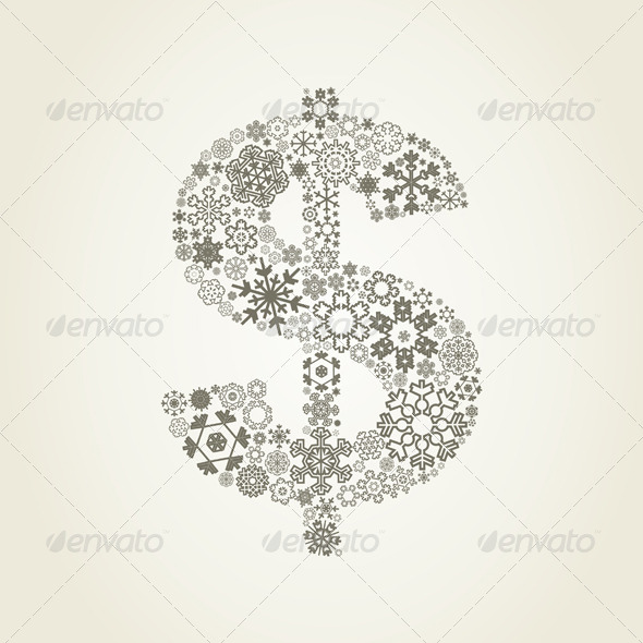 GraphicRiver Snowflake Dollar 4107771