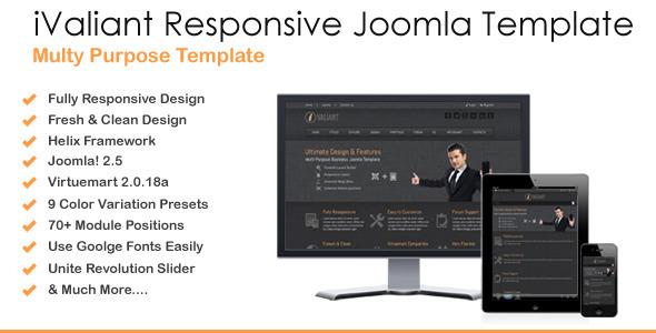 ThemeForest Ivaliant Clean Responsive Joomla Template 4107507