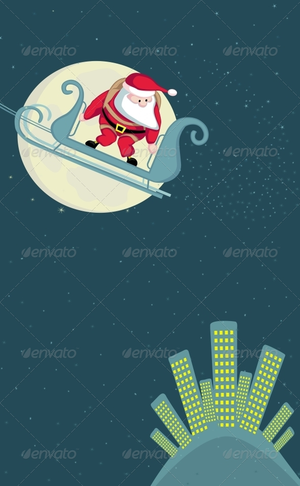GraphicRiver Santa Skydiving 4108198