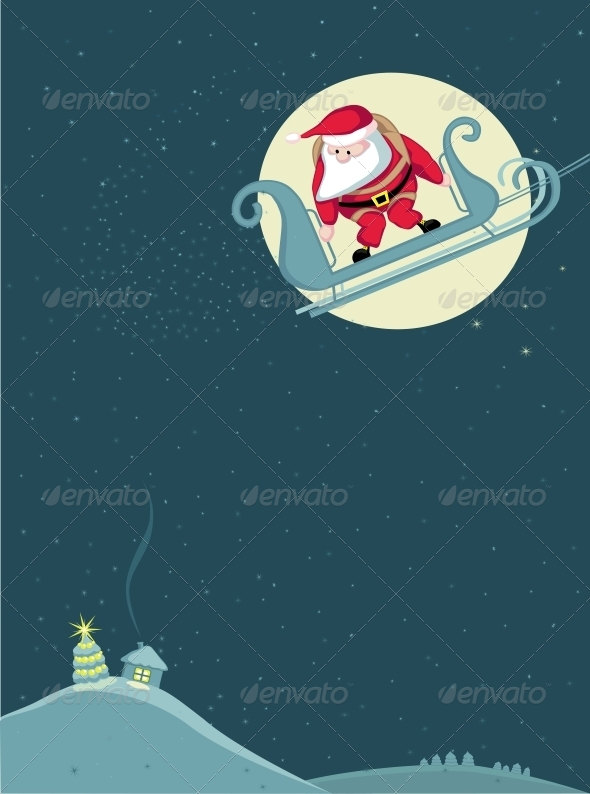 GraphicRiver Santa Skydiving 4108200