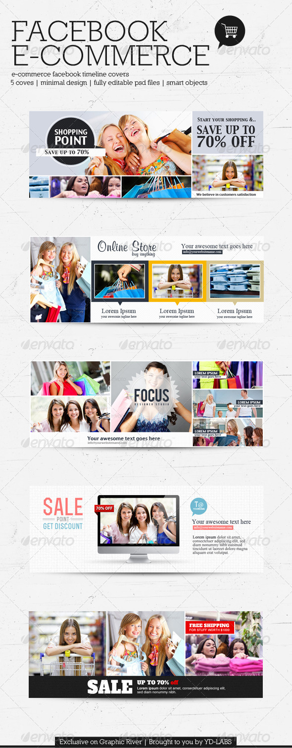 GraphicRiver FB E-Commerce Timeline Covers 4108241