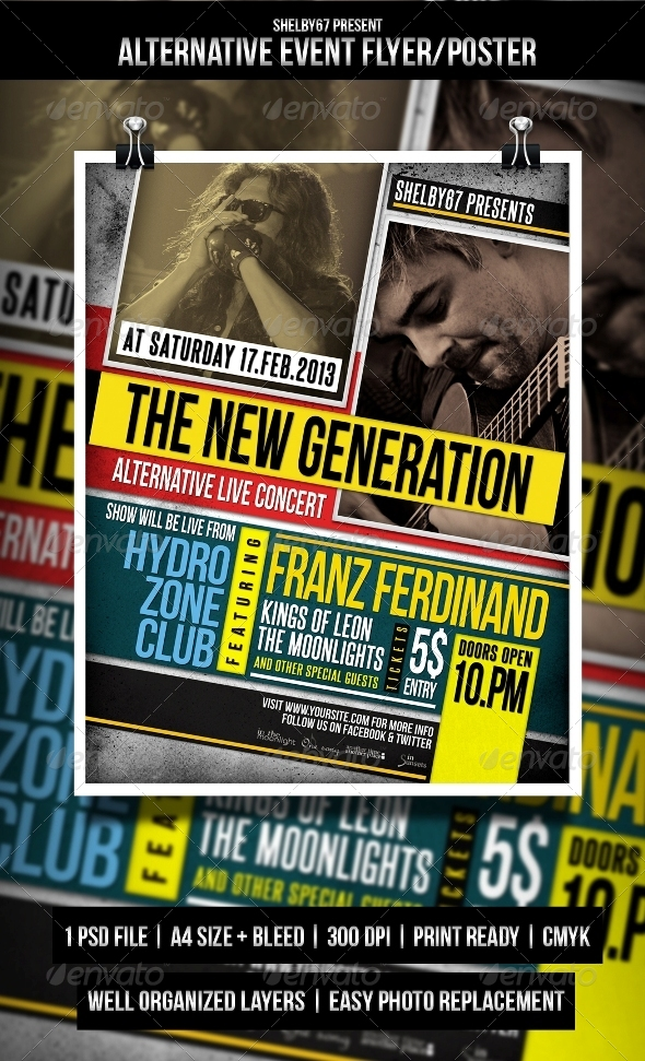 GraphicRiver Alternative Event Flyer Poster 4108537