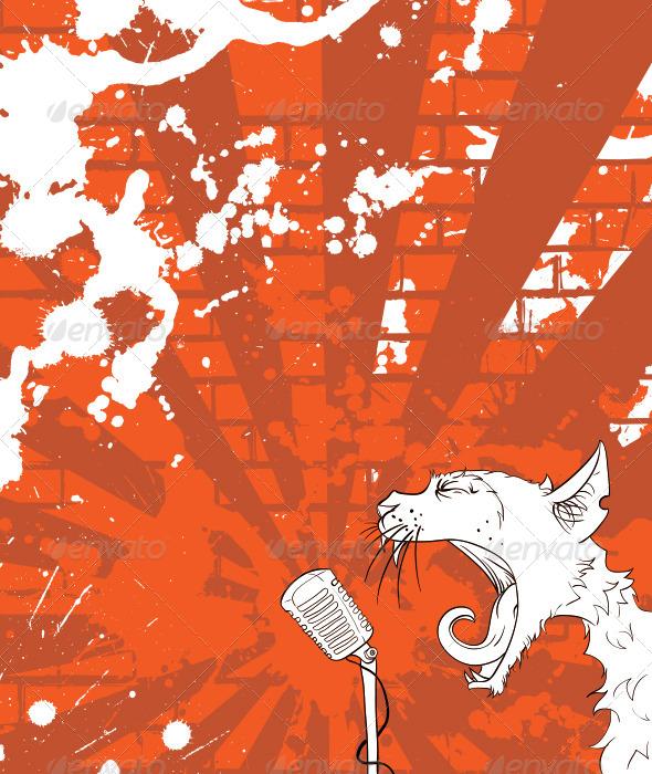 GraphicRiver Cat Singer 4109081