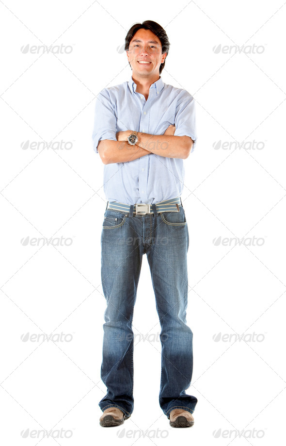 Casual man standing - Stock Photo - Images