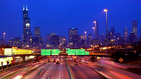 Chicago Skyline And Traffic By Dibrova Videohive