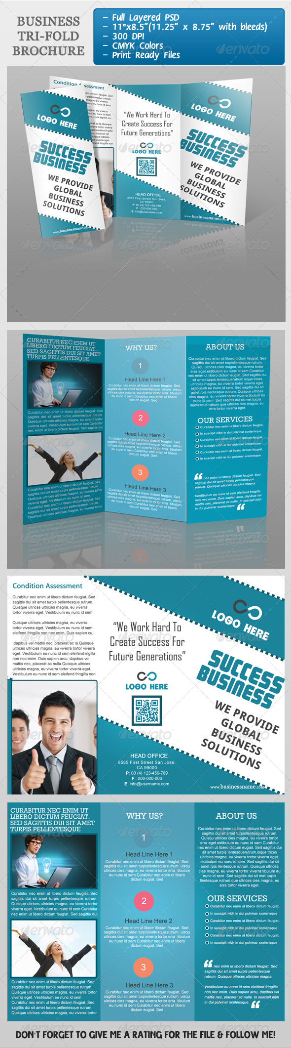 GraphicRiver Business Tri-Fold Brochure 3983476