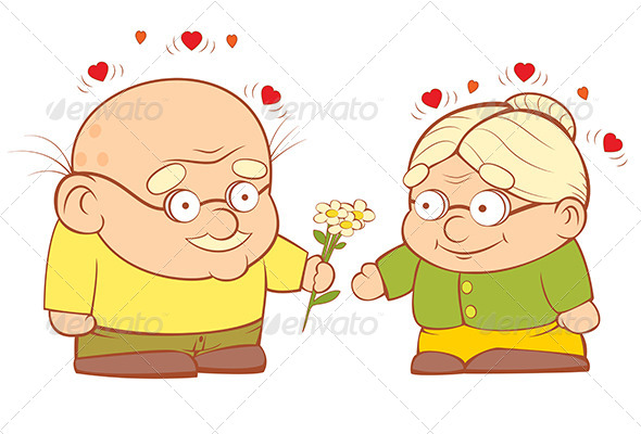 GraphicRiver Old Couple In Love 4110485