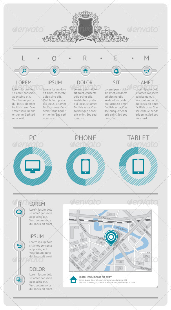 GraphicRiver Infographics and Web Elements 4110532