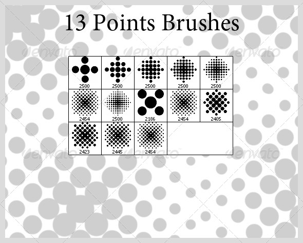 GraphicRiver 13 Points Brushes 4110767
