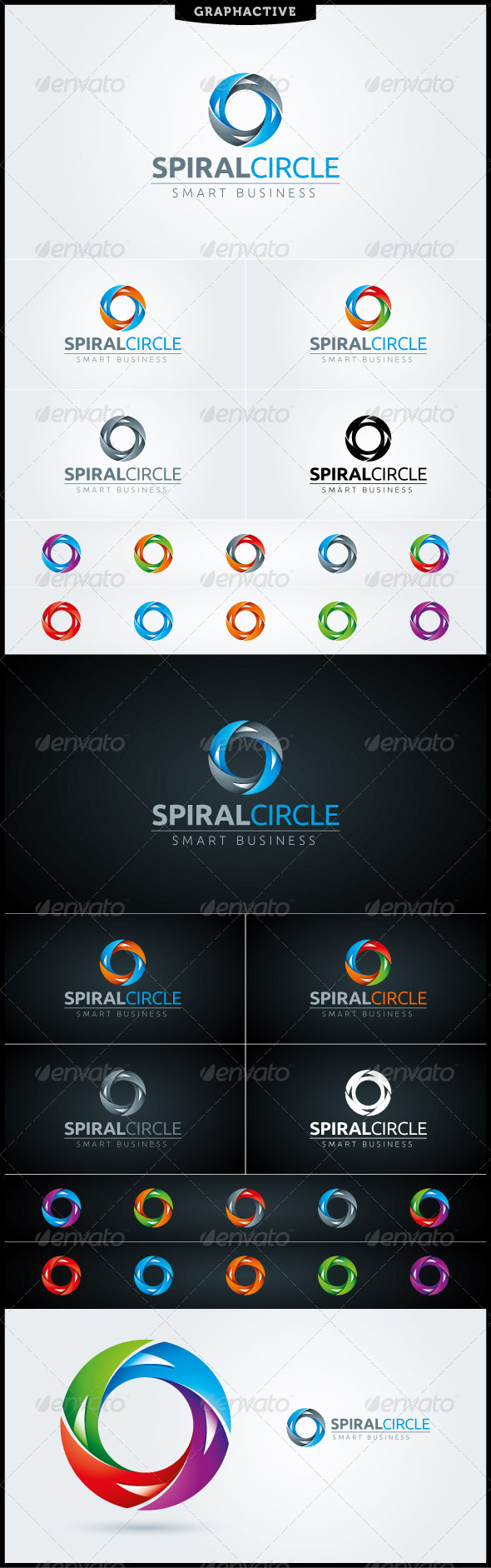 GraphicRiver Spiral Circle Letter O Logo Template 4017996