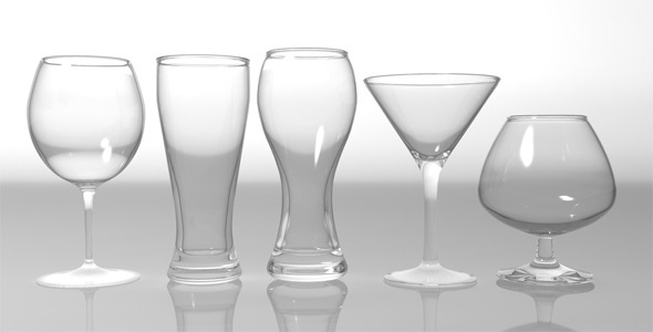 Glass Pack Collection 01 - 3DOcean Item for Sale