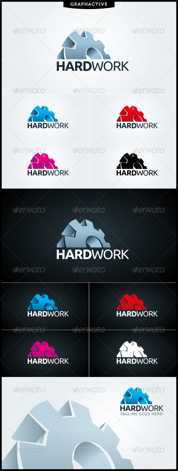 GraphicRiver Hard Work Logo Template 4018415