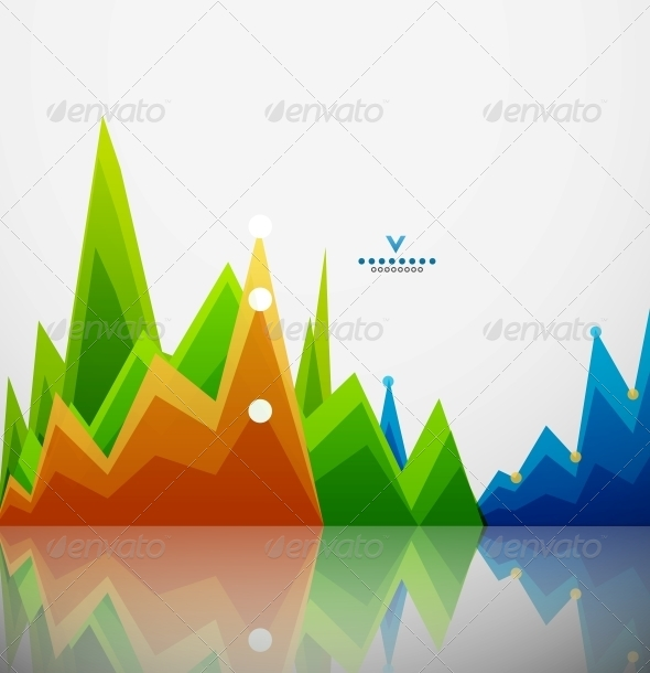 GraphicRiver Colorful Graphs Background 4111041